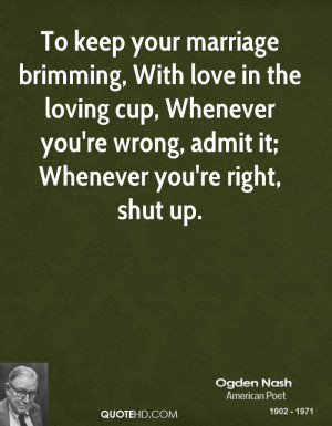 ... cup, Whenever you're wrong, admit it; Whenever you're right, shut up