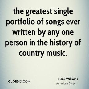Hank Williams - the greatest single portfolio of songs ever written by ...
