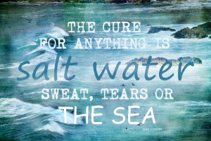 The cure for anything is salt water - tears, sweat, or the sea.
