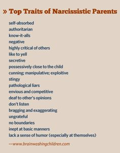 Narcissistic mother, narcissistic father – here are their traits ...