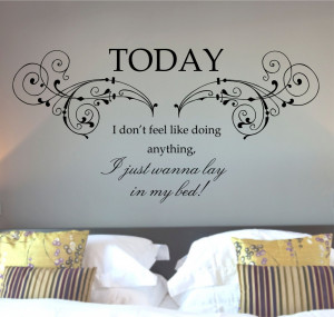 Bruno Mars, Lazy Song Quote Vinyl Wall Art Sticker Decal, Mural