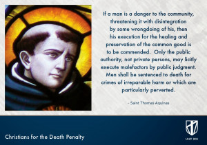 SAINT THOMAS AQUINAS'S PRO DEATH PENALTY QUOTE (JANUARY 28 ~ FEAST ...