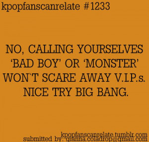 bad boy, big bang, kpop, kpop quotes, monster, text