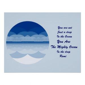 Rumi Quote Poster Art Ocean Mandala Design