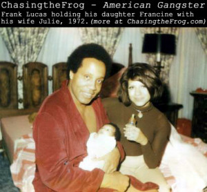 View a picture of Frank Lucas with baby Francine and wife Julie (1972 ...