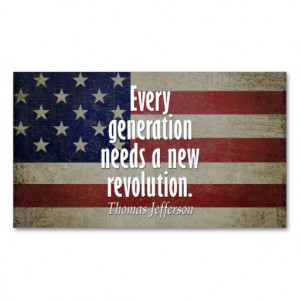 Thomas Jefferson Quote on Revolution Double-Sided Standard Business ...