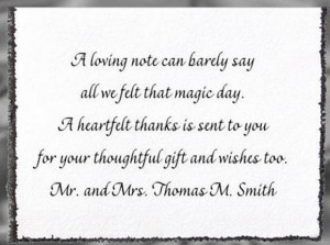 you wording thank you card wording the thank you notes are sarah palin ...