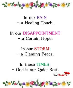 In Our PAIN – A Healing Touch. In Our….