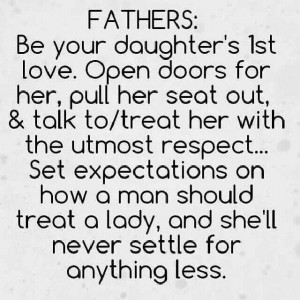 father s example to his daughter