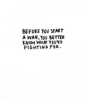 Just don't start a war