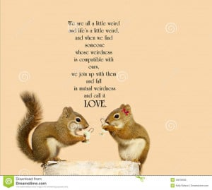 Inspirational quote on love by Dr. Suess with a cute pair of squirrels ...