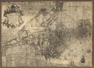 Colonial Boston Map 1775