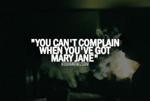... mary jane high stoner stoned lifted kushandwizdom baked weed quotes