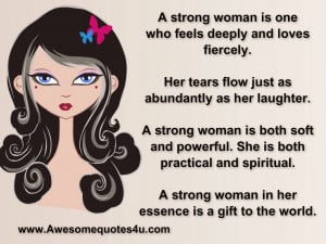 strong woman is one who