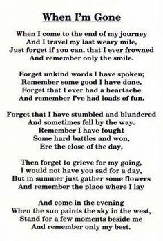 Quotes About Losing Someone To Cancer Death poem, remember, quotes,
