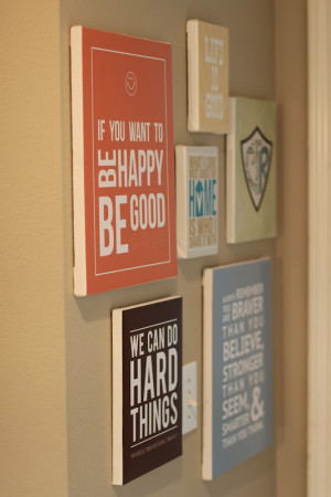 quote wall. Pinching Your Pennies took canvases, printed the FREE ...