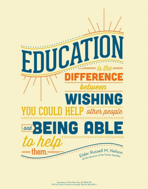 ... talks about the value of education. Read more: http://bit.ly/1zcEQ0j