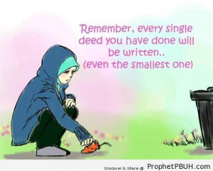 Good Deeds Quotes Deeds Islamic Quotes About