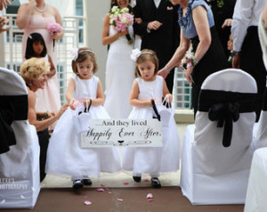 ... with Here Comes the Bride. 8X24 in, 2-Sided. Ring Bearer, Flower Girl