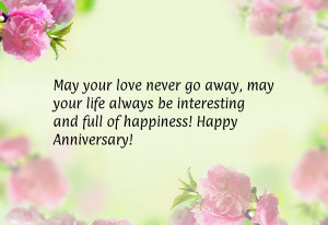 ... life always be interesting and full of happiness! Happy Anniversary