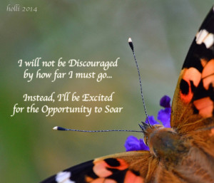 Inspirational Photo of Painted Lady Butterfly with Inspirational Quote ...