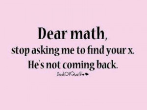 Math quote for Lorna's classroom