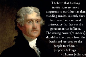 Thomas Jefferson Quote on Banking -