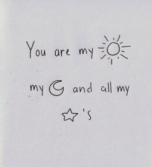 cute,love,moon,mysunandstars,quote,quotes ...
