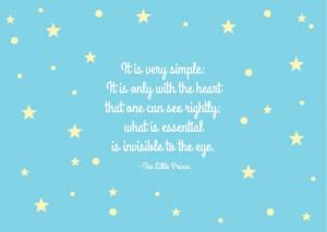 The Little Prince quote Antoine De Saint-Exupéry