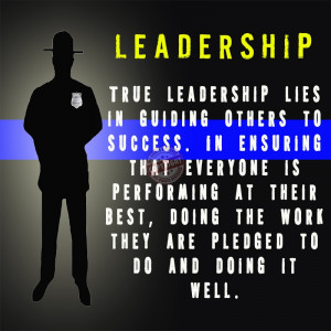 police leadership poster