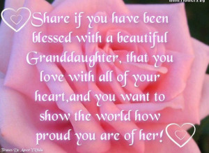 blessed with 5 beautiful Granddaughters & 2 Grandsons, that we love ...