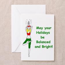 Cute Cute yoga christmas Greeting Card