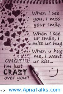 ... When You Hug Me, I Want Your Kiss OMG I'm Just So Crazy About You