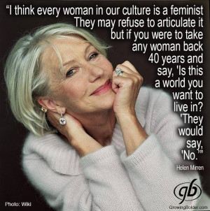 Helen Mirren on Feminism