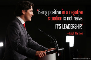 """Inspirational Quote: """"Being positive in a negative situation is not ..."""