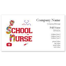 School Nurse Business Cards for