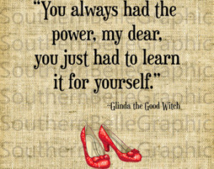 Wizard Of Oz Quotes Glinda Power ~ Popular items for glinda on Etsy