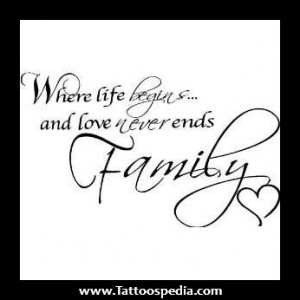 Family Phrases For Tattoos Quotes about family love
