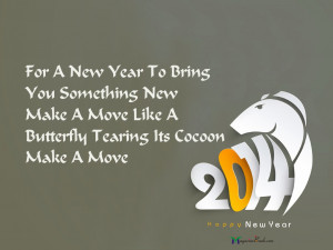 For A New Year To Bring You Something New