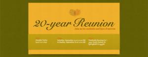 ... 20 years,20th,20th reunion,college reunion,high school reunion,reunion