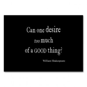 ... of a Good Thing Shakespeare Quote Large Business Cards (Pack Of 100