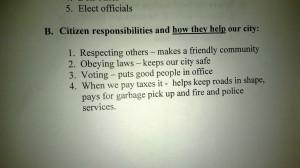 3rd Grade Government Homework: 'Good Citizens Do Not Argue'