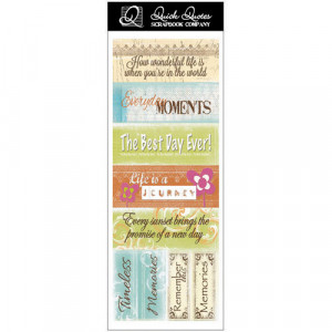 ... Quotes - Just Because Collection - Cardstock Strip - Words and Phrases