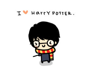 chibi, cute, gryffindor, harry potter, hogwarts