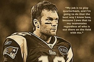 Details about TOM BRADY FOOTBALL GREAT inspirational photo quote ...