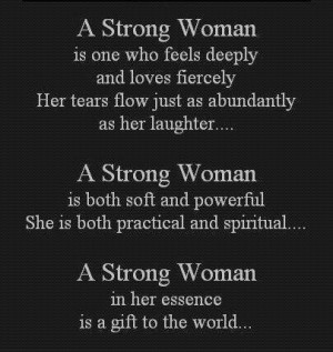Strong Woman Is One who Feels Deeply ~ Faith Quote   Quotespictures.