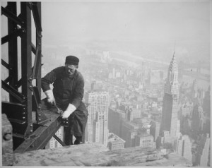 ... new york Empire State Building chrysler building worker lewis hine