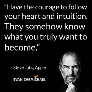 Have the courage to follow your heart and intuition. They somehow know ...