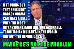 Jon Stewart of The Daily Show: Government Shutdown Meme