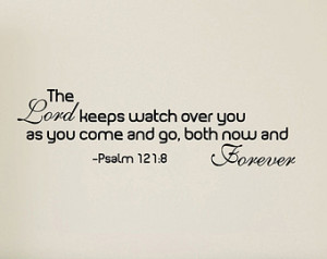 The Lord Keeps Watch Over You Quote Vinyl Wall Decal Sticker Art Decal ...